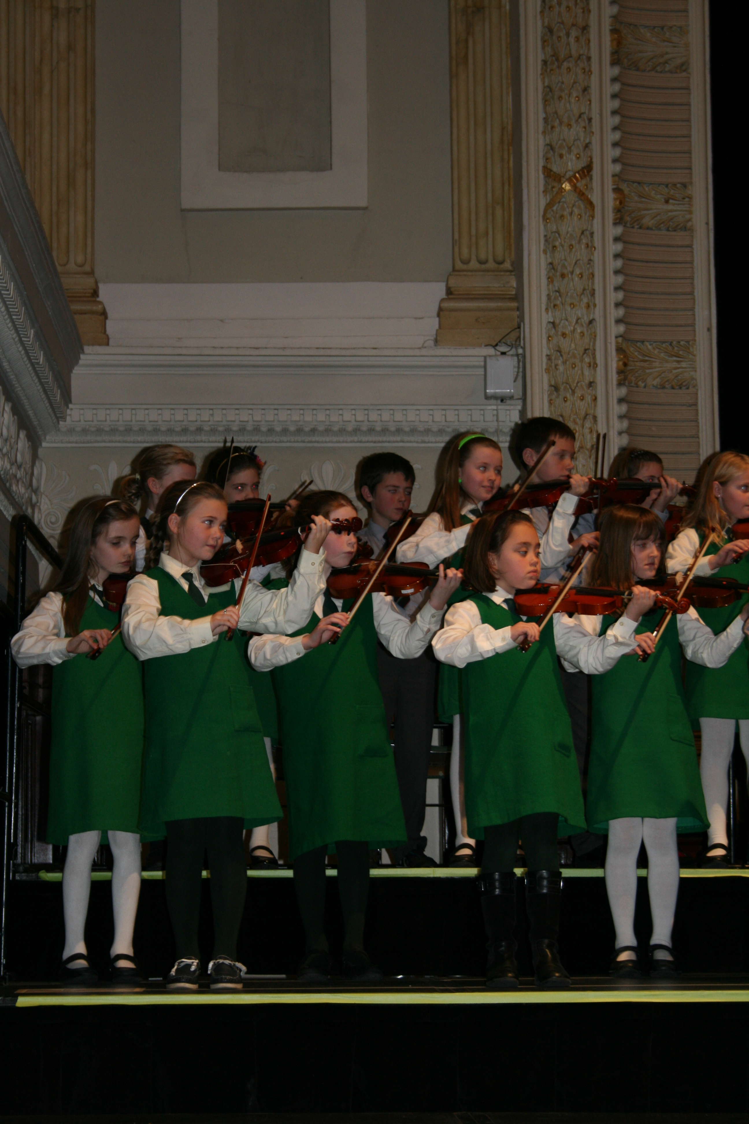 Eglantine violinists at the Suzuki concert in City Hhall
