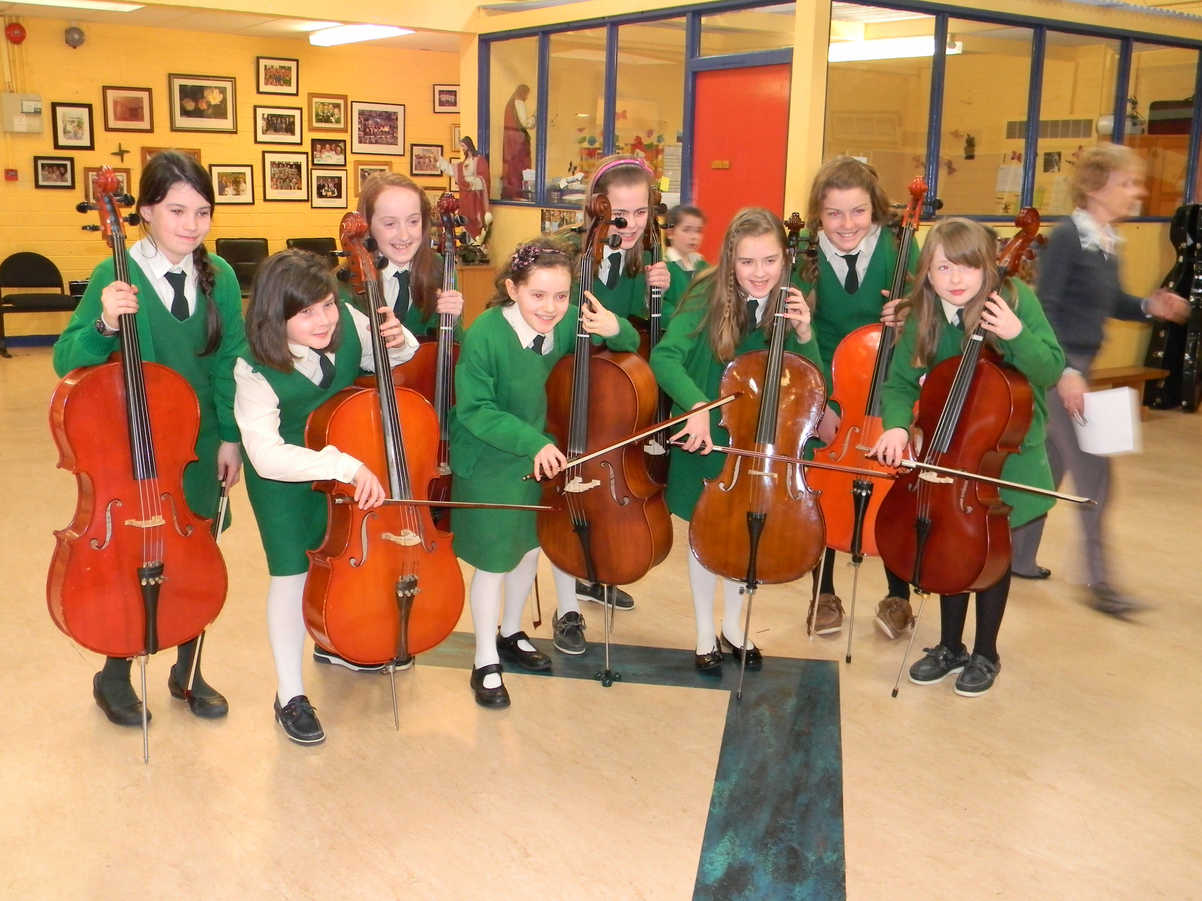 Cello players in the School Orchestra